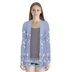 Branch Leaves Branches Plant Drape Collar Cardigan