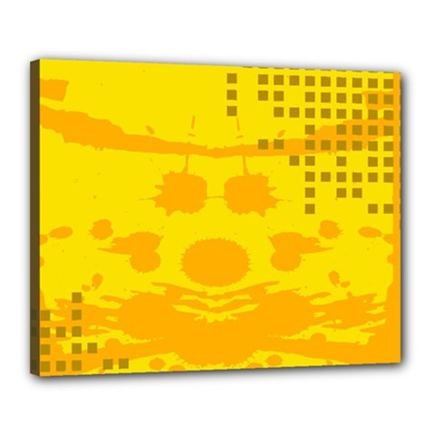 Texture Yellow Abstract Background Canvas 20  X 16