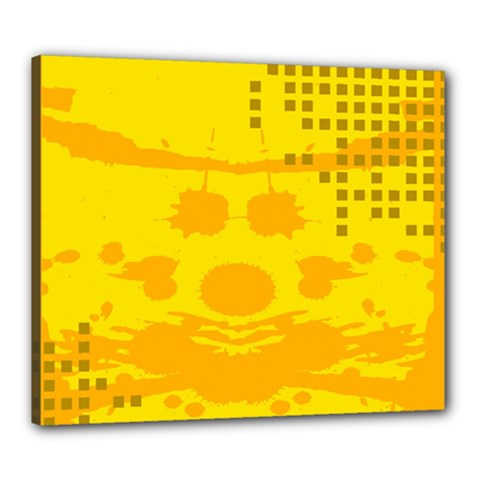 Texture Yellow Abstract Background Canvas 24  X 20