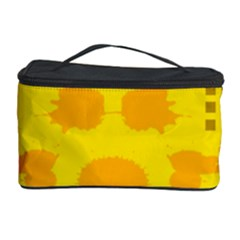 Texture Yellow Abstract Background Cosmetic Storage Case