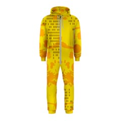 Texture Yellow Abstract Background Hooded Jumpsuit (kids)