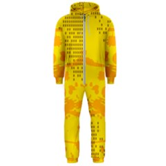 Texture Yellow Abstract Background Hooded Jumpsuit (men)