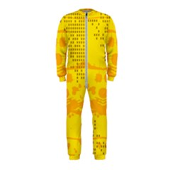 Texture Yellow Abstract Background Onepiece Jumpsuit (kids)