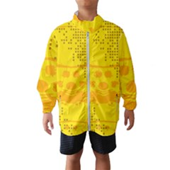Texture Yellow Abstract Background Wind Breaker (kids)