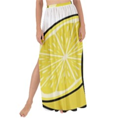 Lemon Fruit Green Yellow Citrus Maxi Chiffon Tie Up Sarong