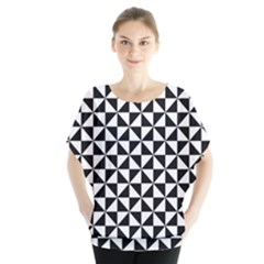 Triangle Pattern Simple Triangular Blouse
