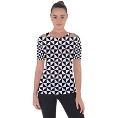 Triangle Pattern Simple Triangular Short Sleeve Top