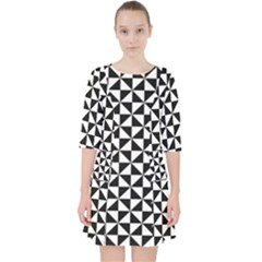 Triangle Pattern Simple Triangular Pocket Dress