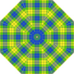 Spring Plaid Yellow Blue And Green Straight Umbrellas