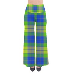 Spring Plaid Yellow Blue And Green Pants