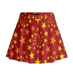 Star Stars Pattern Design Mini Flare Skirt