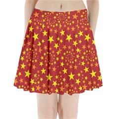 Star Stars Pattern Design Pleated Mini Skirt
