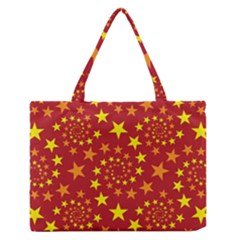 Star Stars Pattern Design Zipper Medium Tote Bag