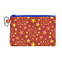 Star Stars Pattern Design Canvas Cosmetic Bag (large)