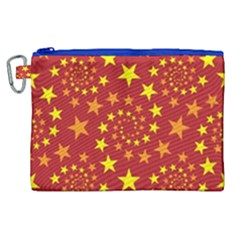 Star Stars Pattern Design Canvas Cosmetic Bag (xl)