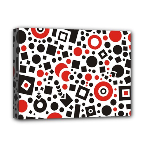 Square Objects Future Modern Deluxe Canvas 16  X 12