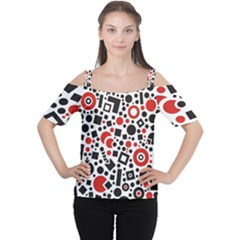 Square Objects Future Modern Cutout Shoulder Tee