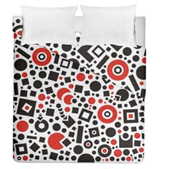 Square Objects Future Modern Duvet Cover Double Side (queen Size)