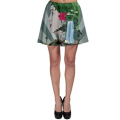 Digital Nature Beauty Skater Skirt