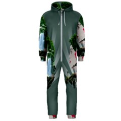 Digital Nature Beauty Hooded Jumpsuit (men)