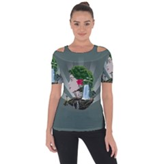 Digital Nature Beauty Short Sleeve Top