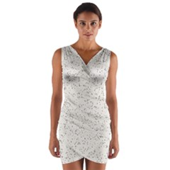 Pattern Star Pattern Star Wrap Front Bodycon Dress