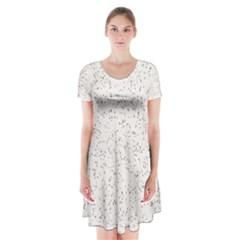 Pattern Star Pattern Star Short Sleeve V Neck Flare Dress
