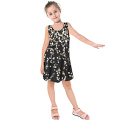 Christmas Bokeh Lights Background Kids  Sleeveless Dress