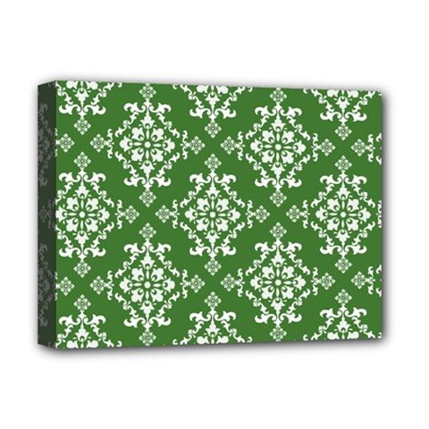 St Patrick S Day Damask Vintage Deluxe Canvas 16  X 12