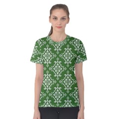 St Patrick S Day Damask Vintage Women s Cotton Tee
