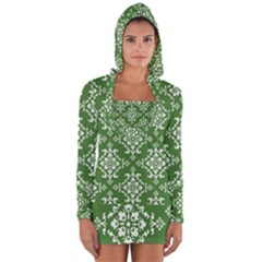 St Patrick S Day Damask Vintage Long Sleeve Hooded T Shirt