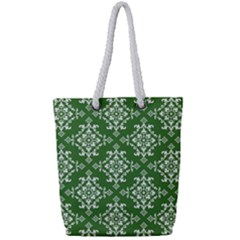 St Patrick S Day Damask Vintage Full Print Rope Handle Tote (small)