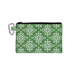 St Patrick S Day Damask Vintage Canvas Cosmetic Bag (small)