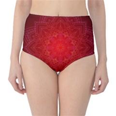 Mandala Ornament Floral Pattern High Waist Bikini Bottoms