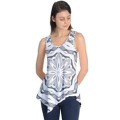 Mandala Pattern Floral Sleeveless Tunic