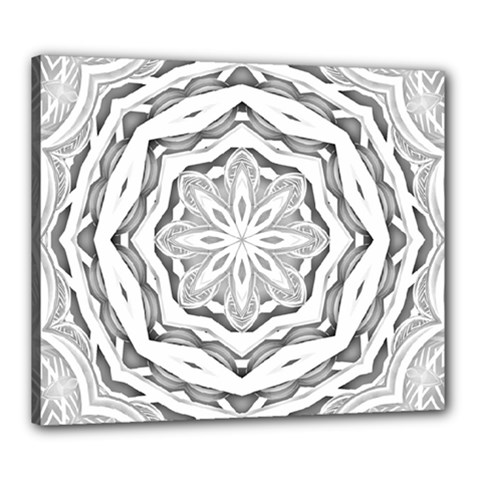 Mandala Pattern Floral Canvas 24  X 20