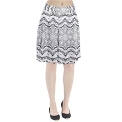 Mandala Pattern Floral Pleated Skirt