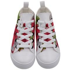 Fruit Healthy Vitamin Vegan Kid s Mid Top Canvas Sneakers