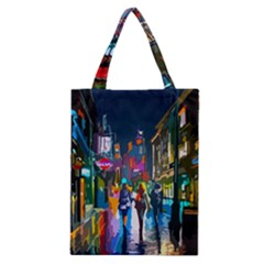 Abstract Vibrant Colour Cityscape Classic Tote Bag