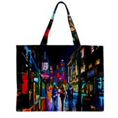 Abstract Vibrant Colour Cityscape Zipper Mini Tote Bag