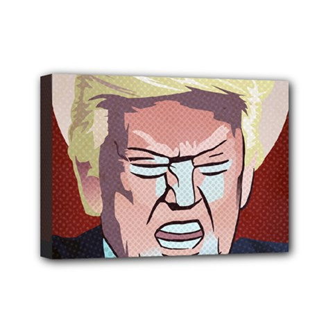 Donald Trump Pop Art President Usa Mini Canvas 7  X 5