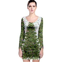 New Year S Eve New Year S Day Long Sleeve Bodycon Dress
