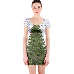 New Year S Eve New Year S Day Short Sleeve Bodycon Dress