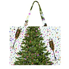 New Year S Eve New Year S Day Zipper Large Tote Bag