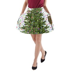 New Year S Eve New Year S Day A Line Pocket Skirt