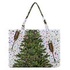 New Year S Eve New Year S Day Zipper Medium Tote Bag