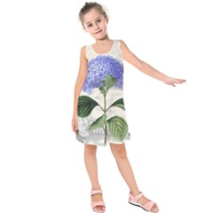 Vintage Shabby Chic Dragonflies Kids  Sleeveless Dress