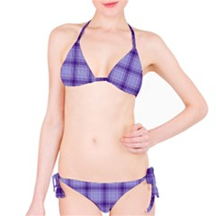 Purple Plaid Original Traditional Bikini Set