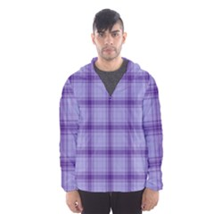 Purple Plaid Original Traditional Hooded Wind Breaker (men)