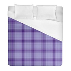 Purple Plaid Original Traditional Duvet Cover (full/ Double Size)